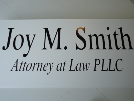 Joy M Smith office sign